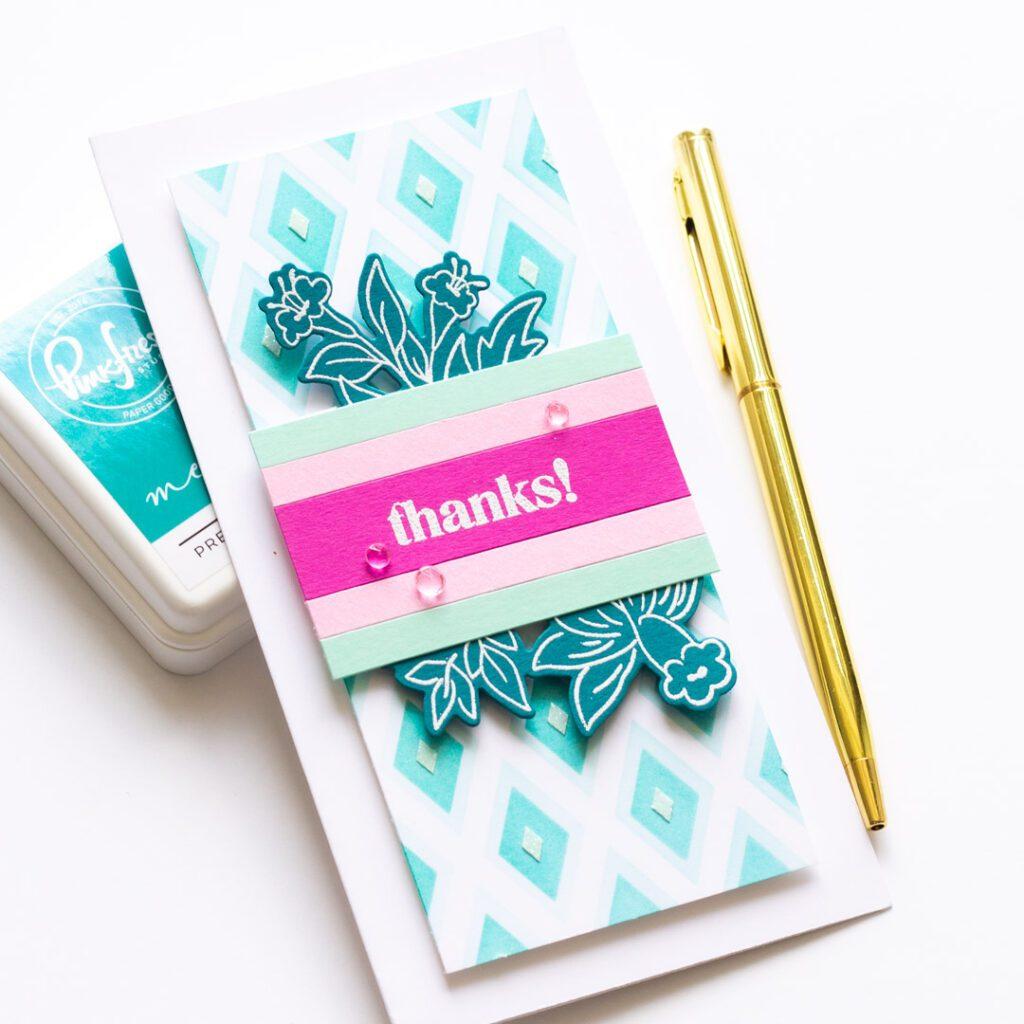Diamond Builder Stencil Mini Slimline Card
