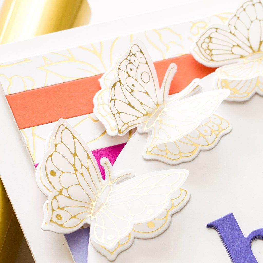 Pinkfresh Studio July Challenge - Butterflies