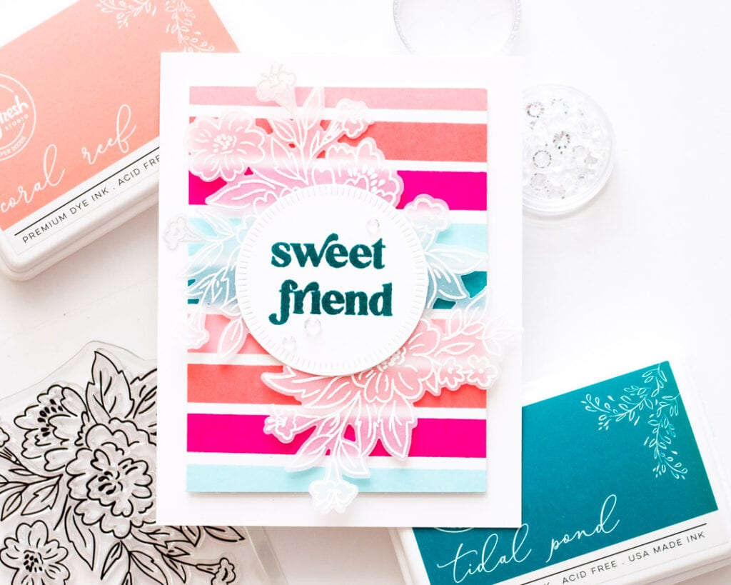 Pinkfresh Studio July Blog Hop - Happy Blooms
