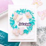 Pinkfresh Studio Indigo Vines Handmade Card