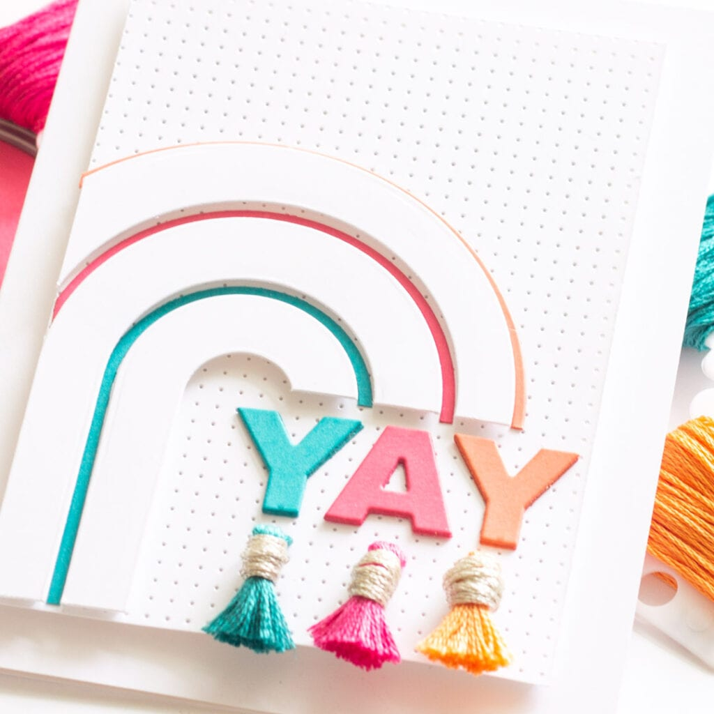 Rainbow Tassel Card - featuring Essentials by Ellen
