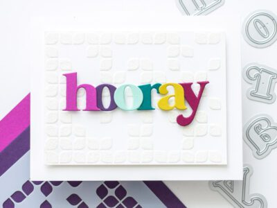 How to Make a Textured Glitter Background with Embossing Paste