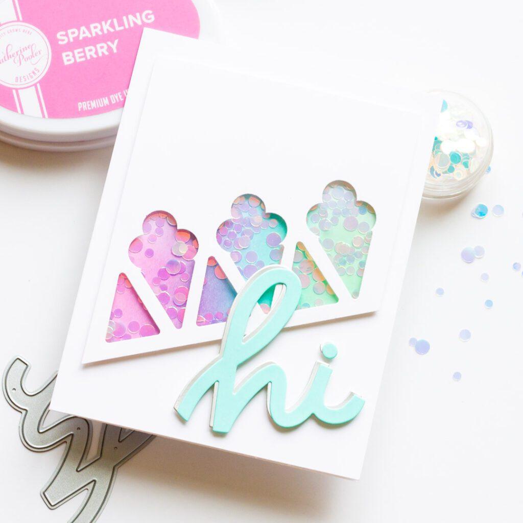 Ice Cream Shaker Card - featuring Ellen Hutson Stay Cool
