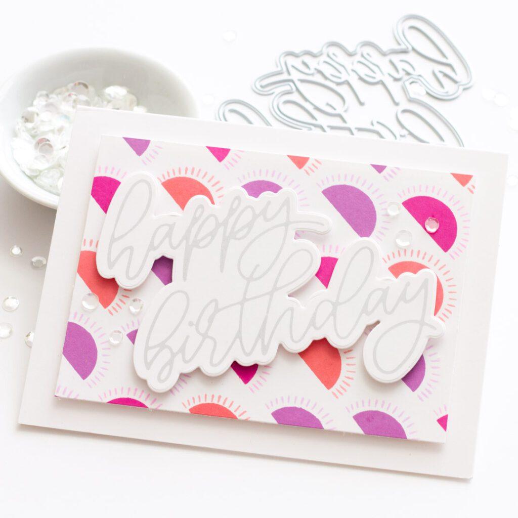 Scripty Happy Birthday Hot Foil Card - featuring Essentials by Ellen