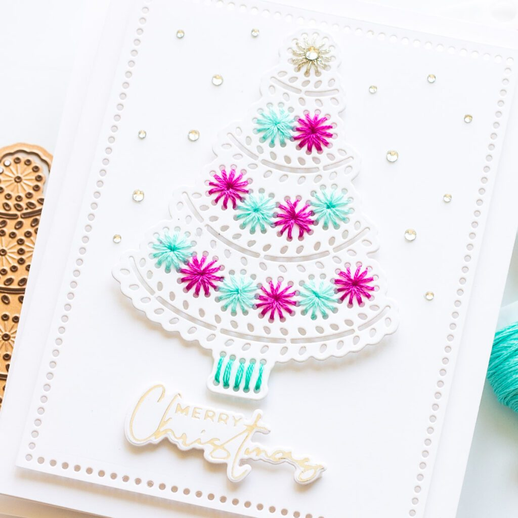 Spellbinders Merry Stitchmas Cards with Stitching Dies