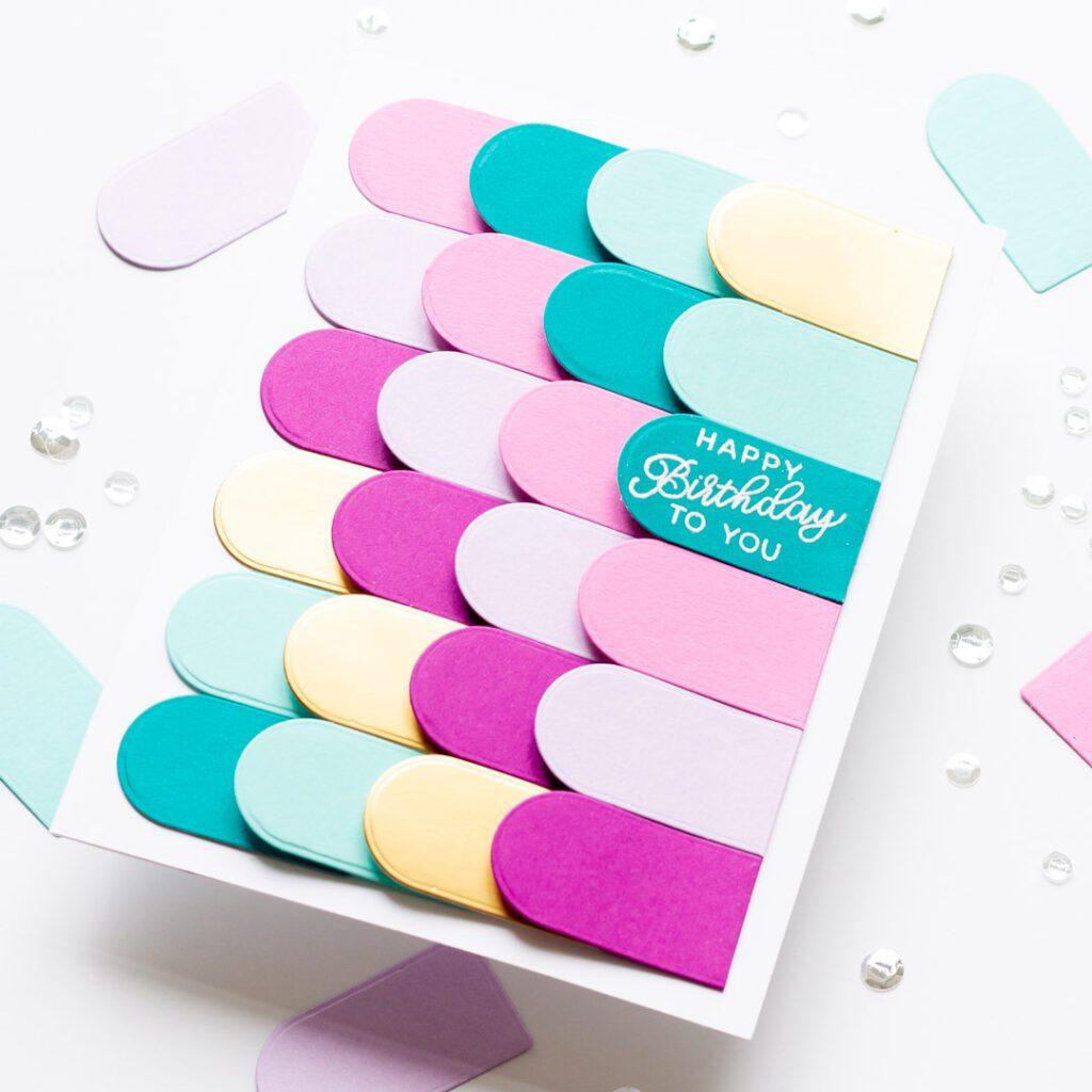 Birthday Petal Cake Card - featuring Essentials By Ellen