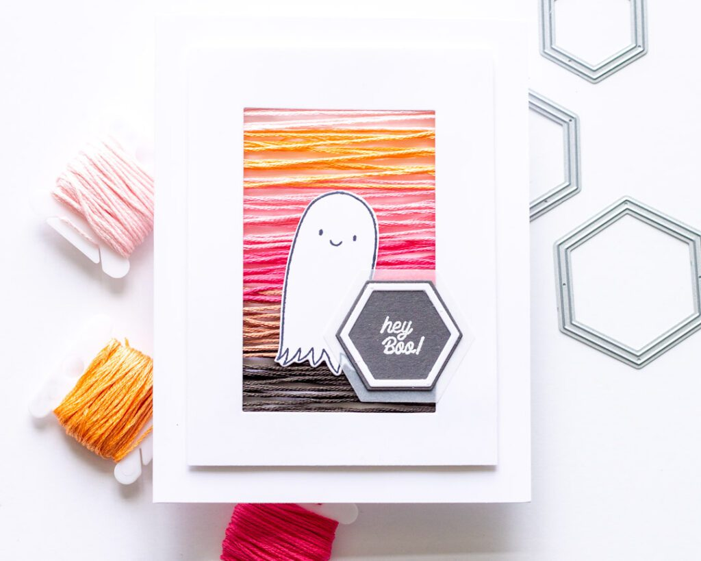 Hey Boo String Art Card featuring Essentials by Ellen