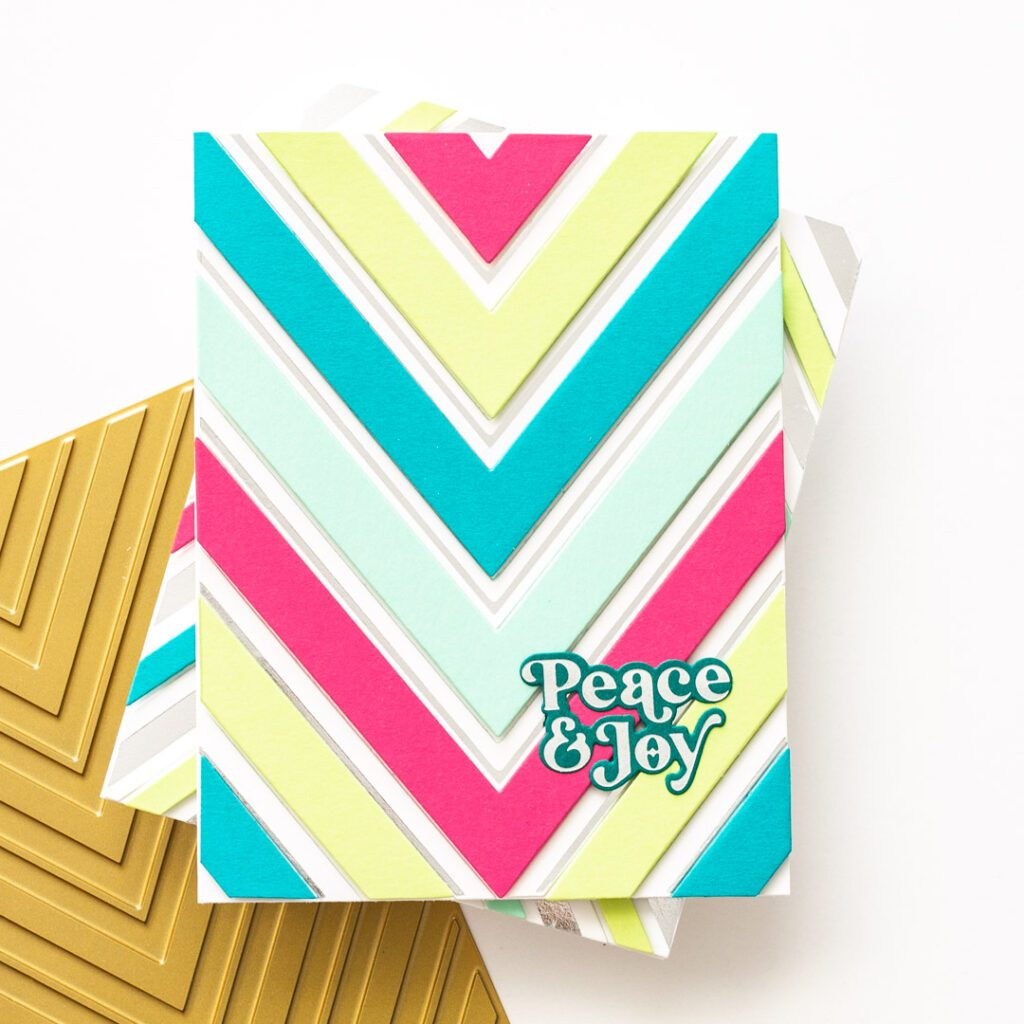 Pinkfresh Studio Holiday Release - Nested Chevron Hot Foil Cards