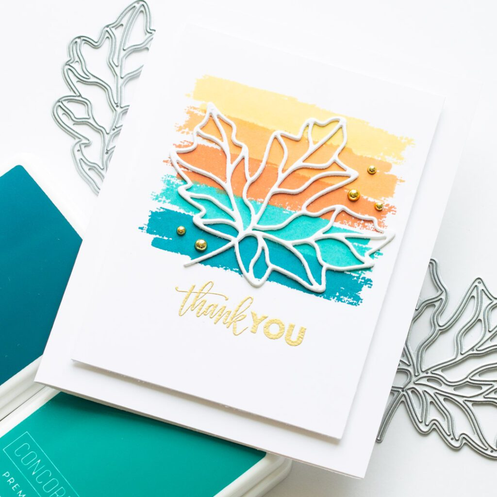 Simon Says Stamp Stamptember - Ornate Leaves Thank You Card