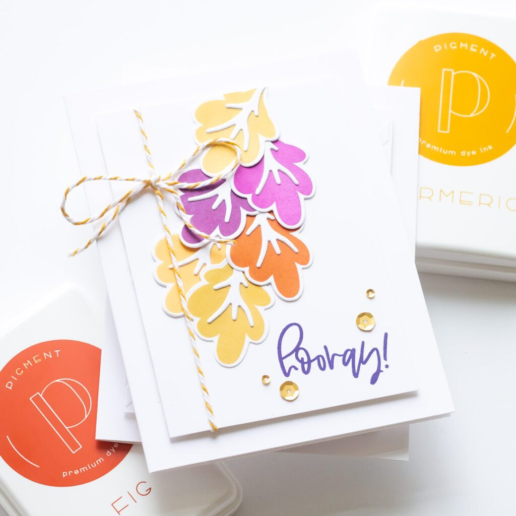 Falling Leaves and New Pigment Craft Co Ink Pads